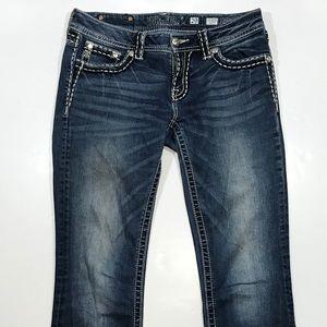 Miss Me Signature Boot Blue Jeans 29, Length 32